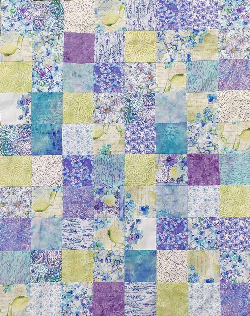 Image of Easy Sharm pack baby quilt layout